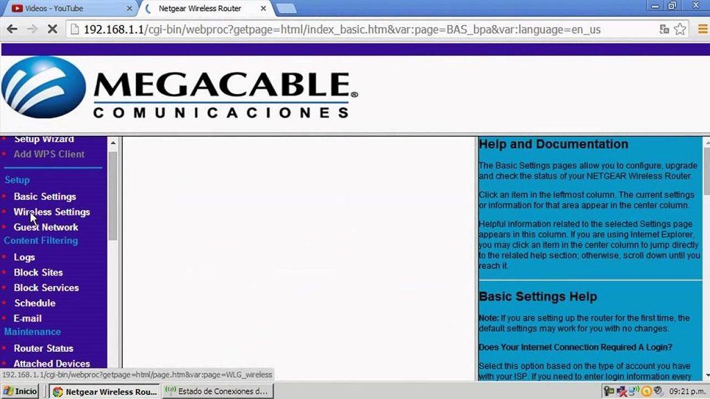 como configurar modem megacable